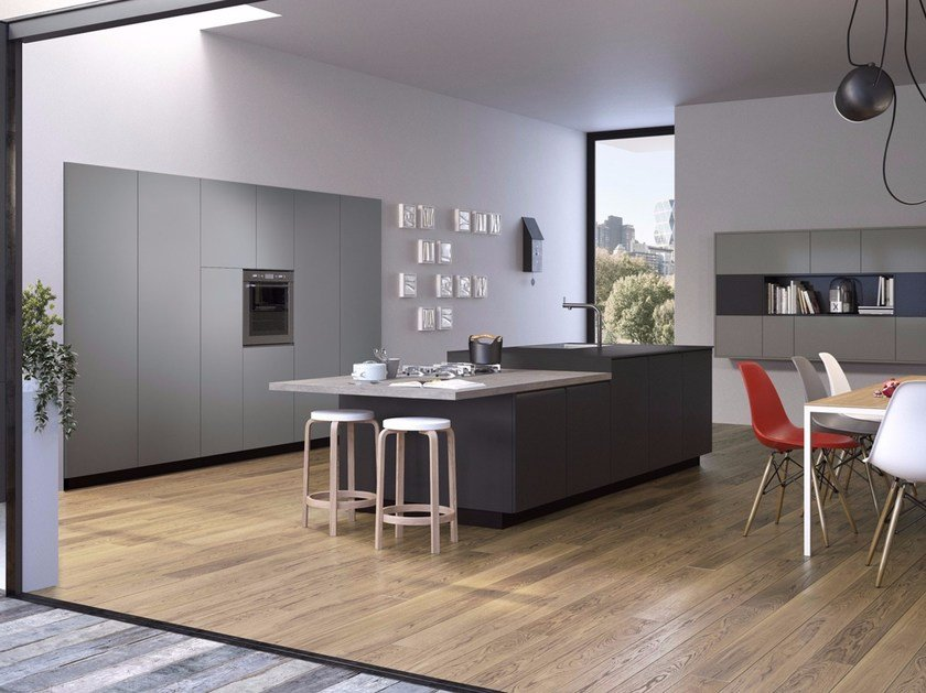 Kitchen with integrated handles GIBILTERRA by Del Tongo