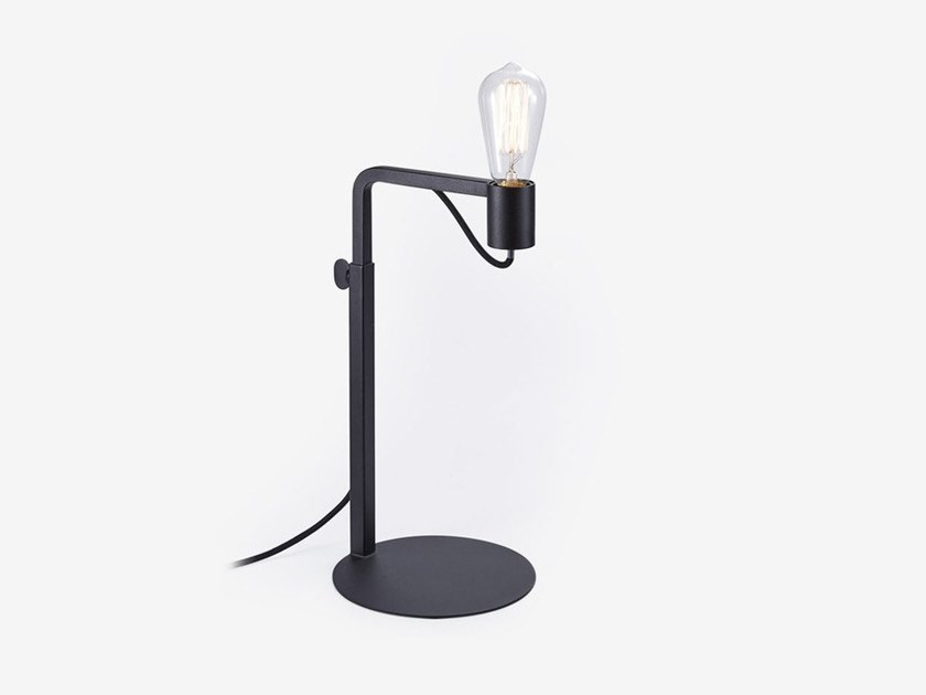 Height-adjustable handmade metal table lamp with dimmer GRAFIT | Table lamp by RADAR INTERIOR