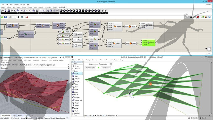Live connection plug-in Rhino - Grasshopper - ARCHICAD by GRAPHISOFT Italia