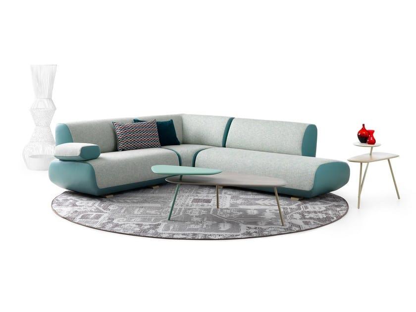 sof de tela de esquina guadalupe by leolux dise o