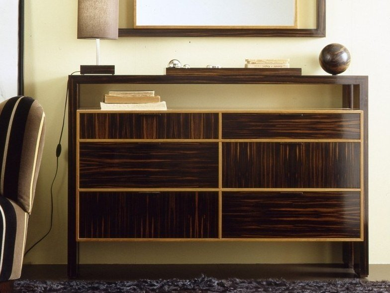 Wooden chest of drawers with integrated handles H 1325 | Chest of drawers by Annibale Colombo