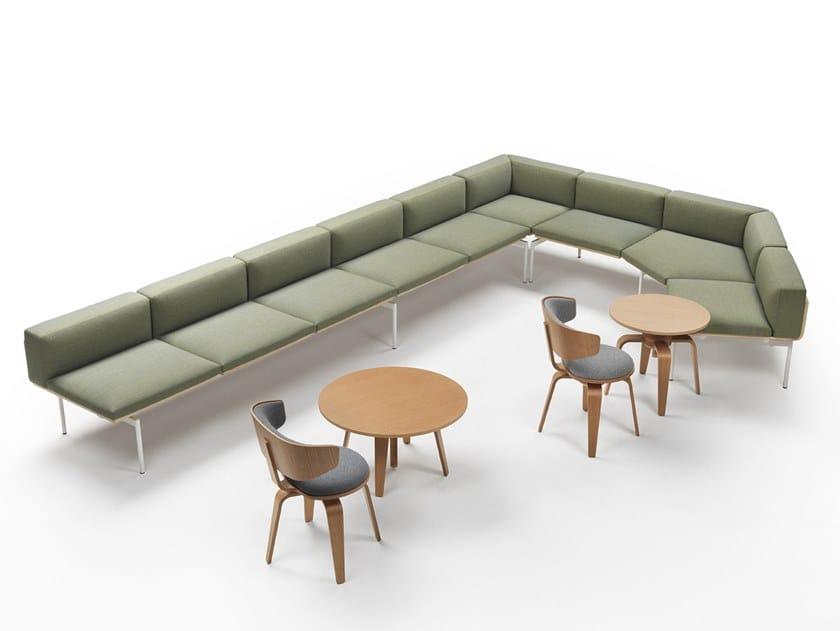 Corner sectional modular fabric sofa H-SOFA | Corner sofa by Marelli