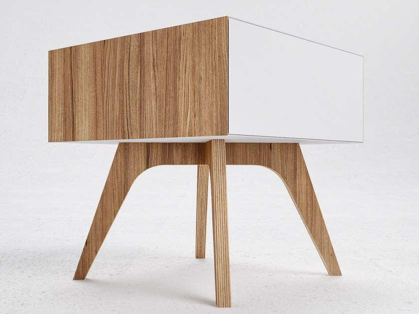 Steel and wood bedside table H1 by ODESD2