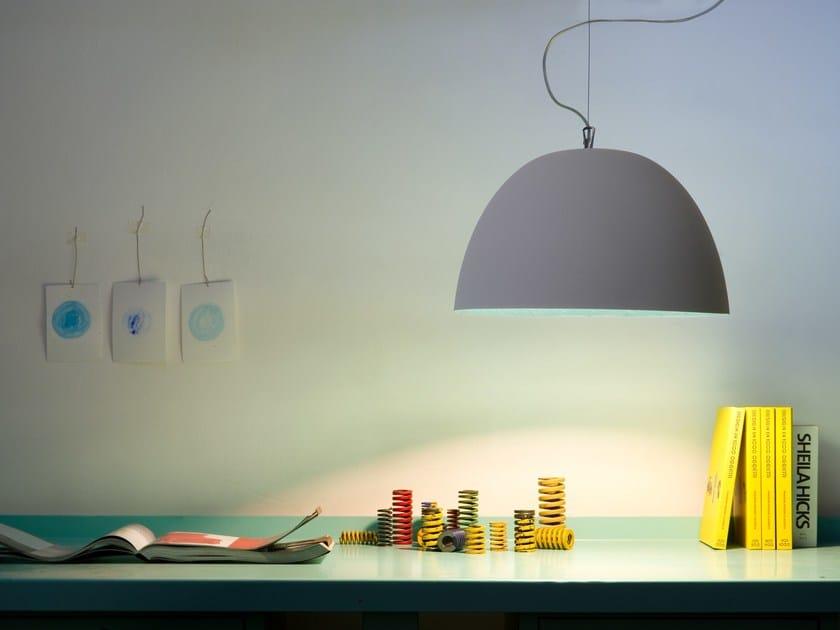 Direct light pendant lamp H2O CEMENTO by In-es.artdesign