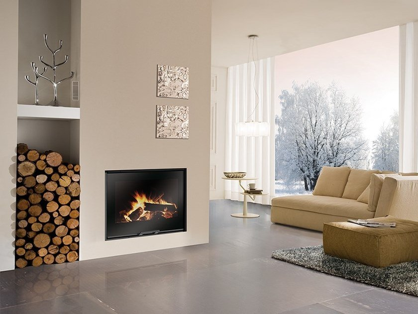 Wood-burning Boiler fireplace H2OCEANO 15/23/28 by EDILKAMIN