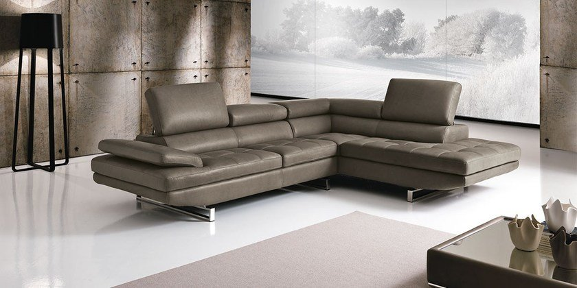 Sectional Sofa With Chaise Longue Habart By Franco Ferri