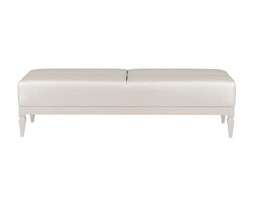 Upholstered leather bench HAIA by Green Apple