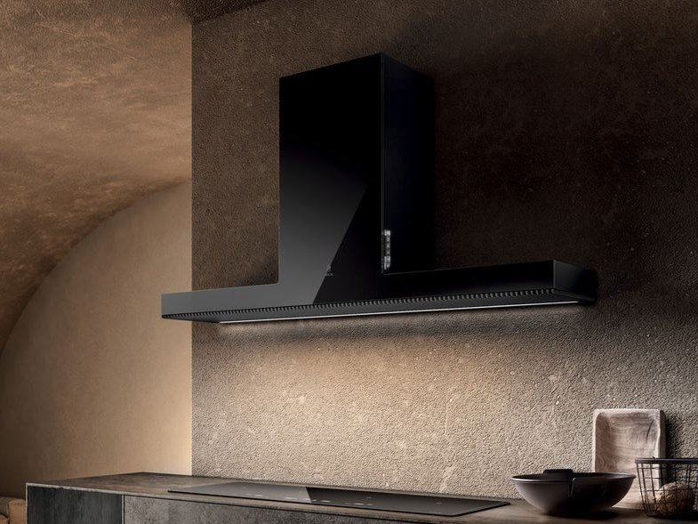 Class A wall-mounted cooker hood with integrated lighting HAIKU by Elica