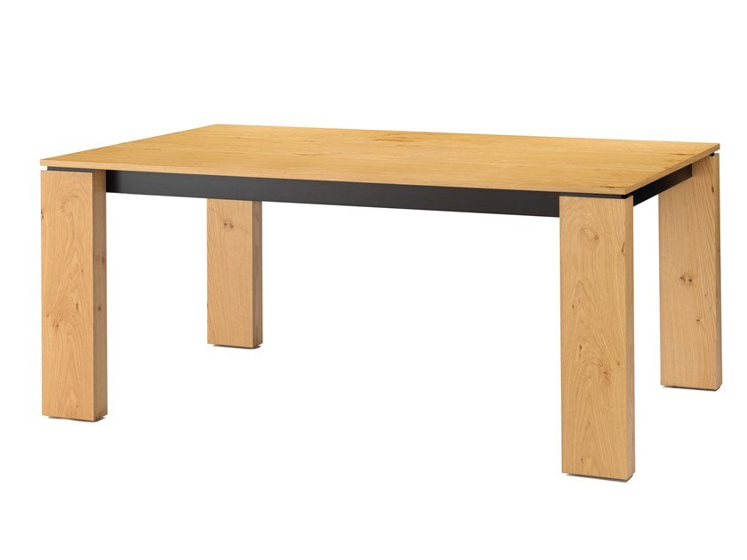 Rectangular oak dining table HAIR by Maiullari