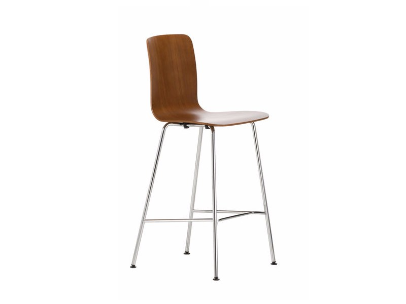 Sgabello da bar in legno hal ply stool medium by vitra design