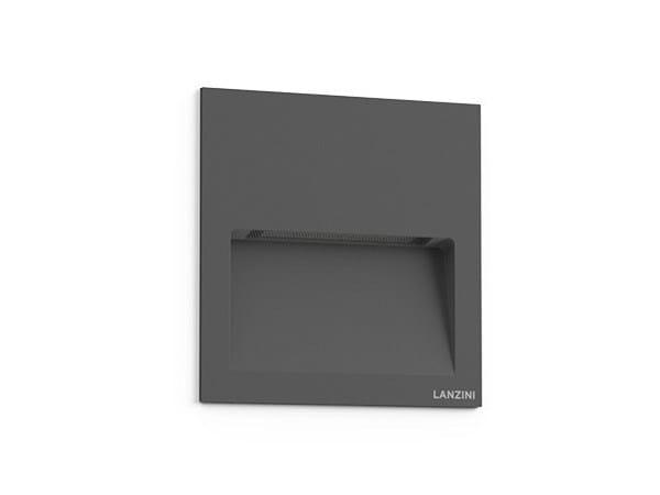Recessed aluminium wall light HALF FULL by LANZINI