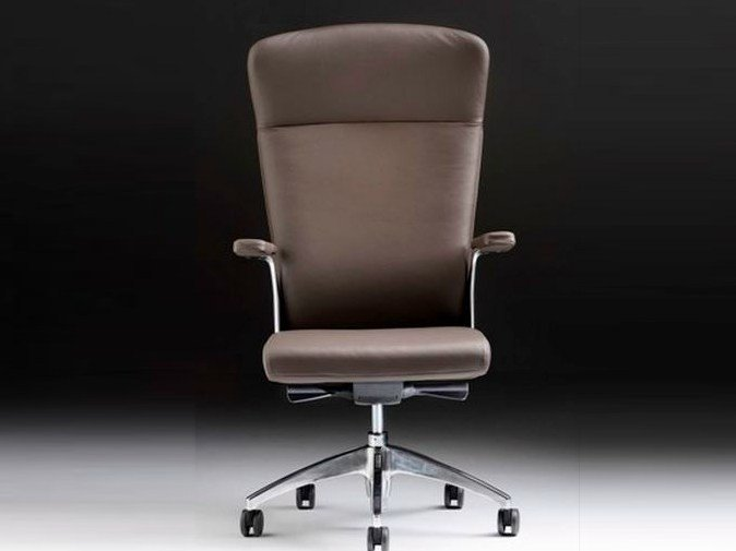 Executive chair with 5-spoke base with armrests HALFPIPE | Executive chair with armrests by Diemme