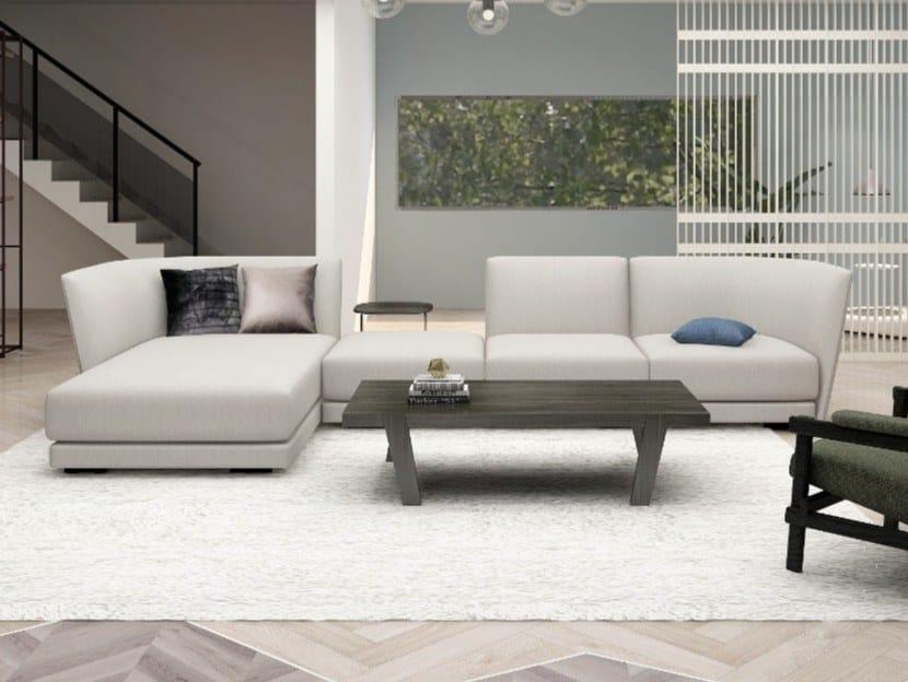 Divano componibile in tessuto a 4 posti con chaise longue HALLE | Divano componibile by Grado Design