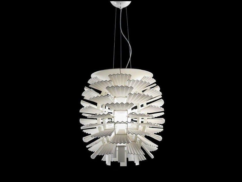LED resin pendant lamp HALLEY by Aldo Bernardi