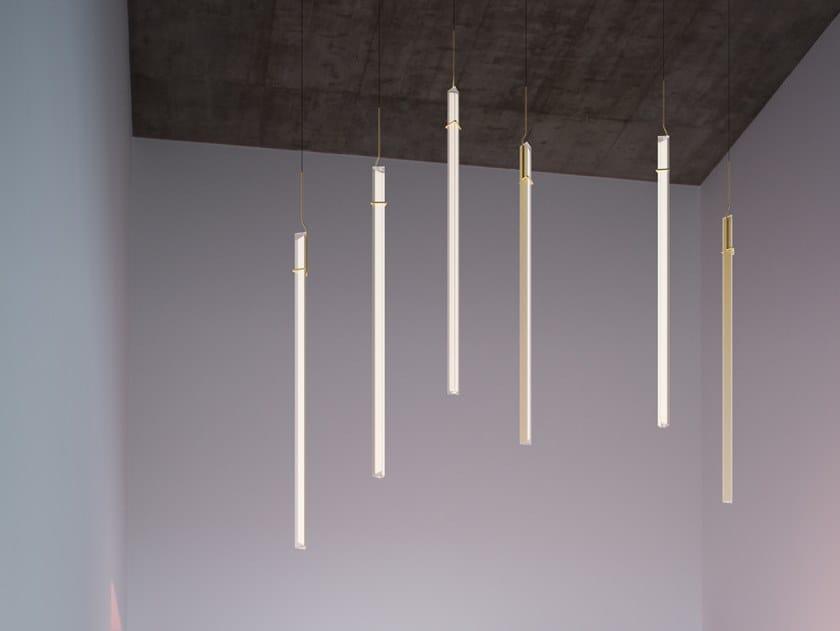 Lampada a sospensione a LED in acciaio HALO JEWEL 2355_2356 by Vibia