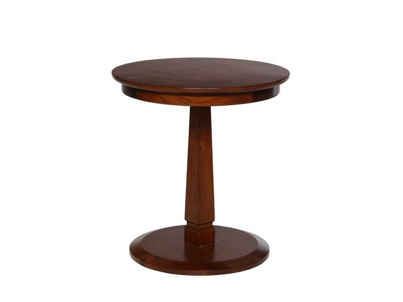Round solid wood side table HALTON | Side table by WARISAN