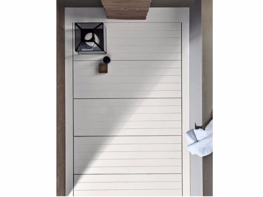 Flush fitting Corian® shower tray HAMMAM | Shower tray by Rexa Design