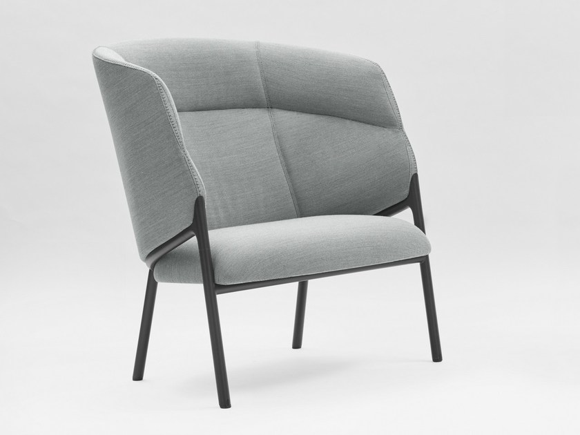 High-back fabric armchair HAMMER | High-back armchair by Segis