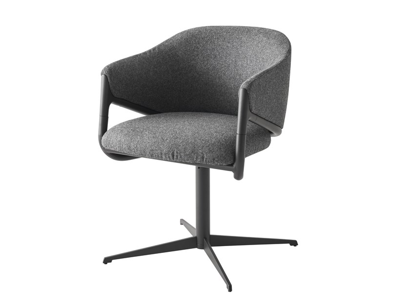 Trestle-based fabric chair with armrests HAMMER   Swivel chair by Segis