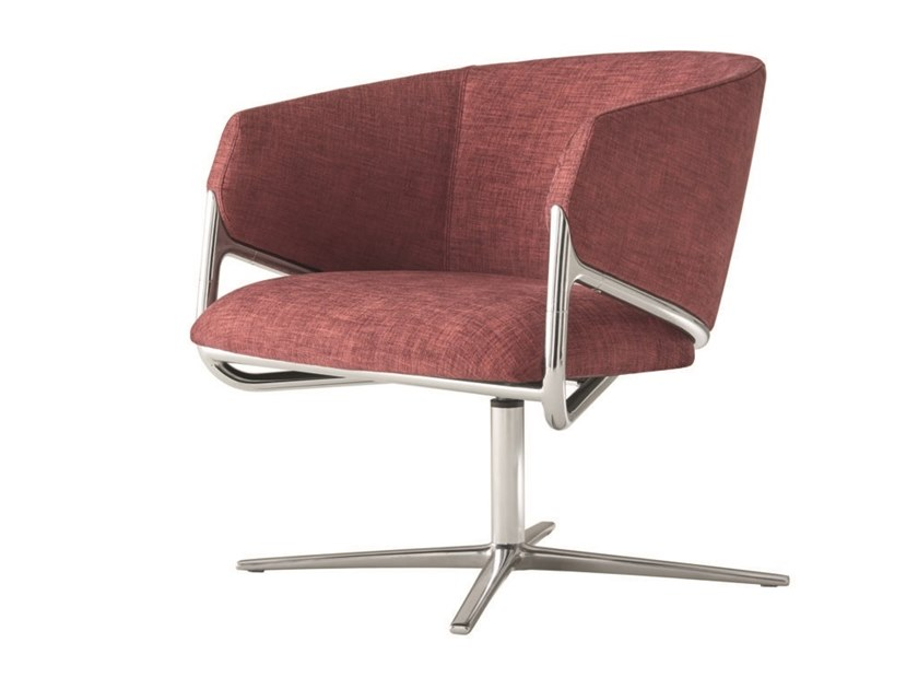 Guest chair with armrests HAMMER | Swivel easy chair by Segis