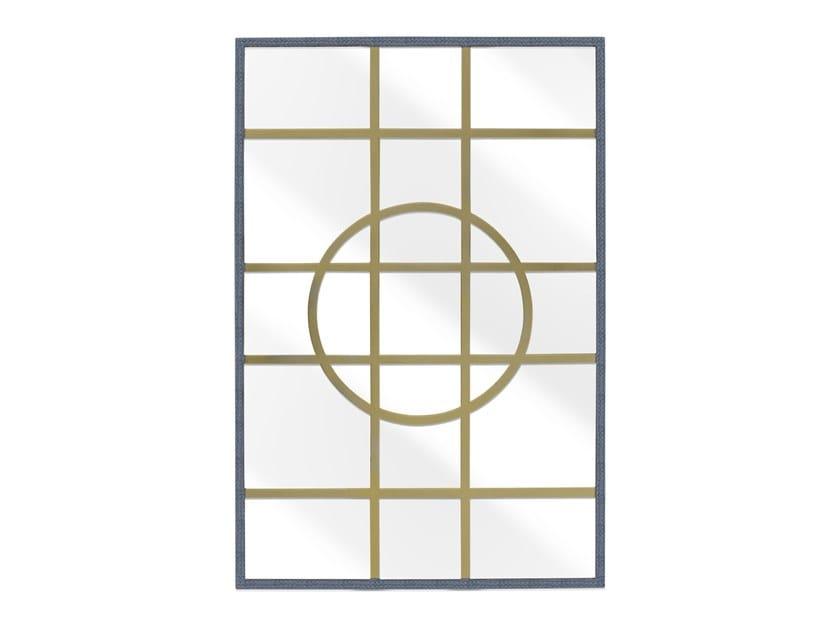 Rectangular framed wall-mounted mirror HAMPTON | Mirror by Abrissi