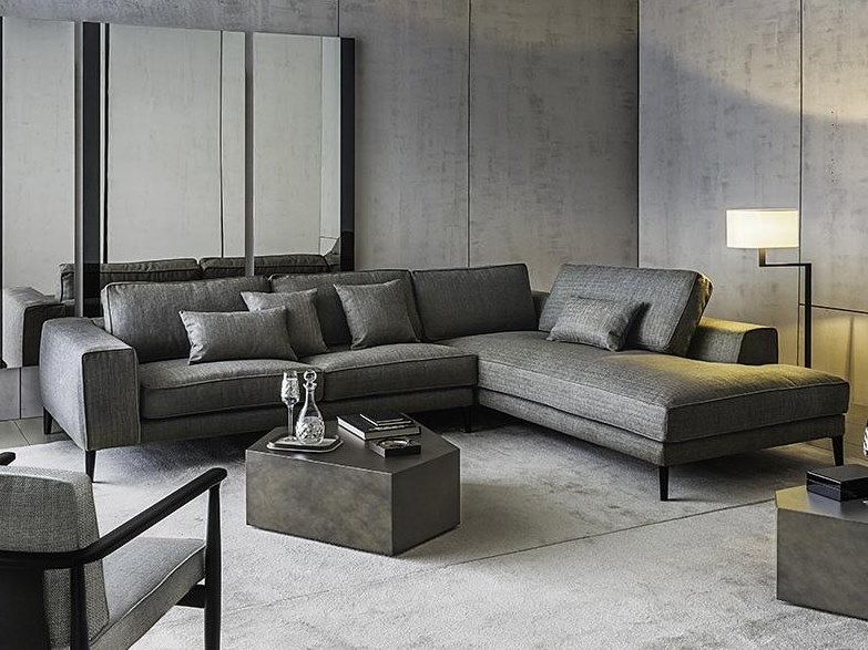 Fabric sofa with chaise longue HAMPTONS | Sofa with chaise longue by Casamilano