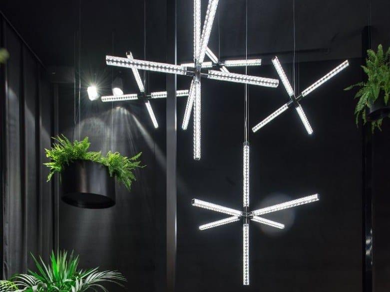 Lampadario a LED con cristalli Swarovski® HANABI by Manooi