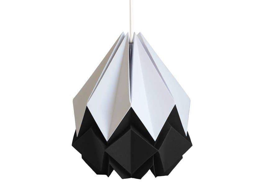 Handmade paper pendant lamp HANAHI BICOLOR by Tedzukuri Atelier