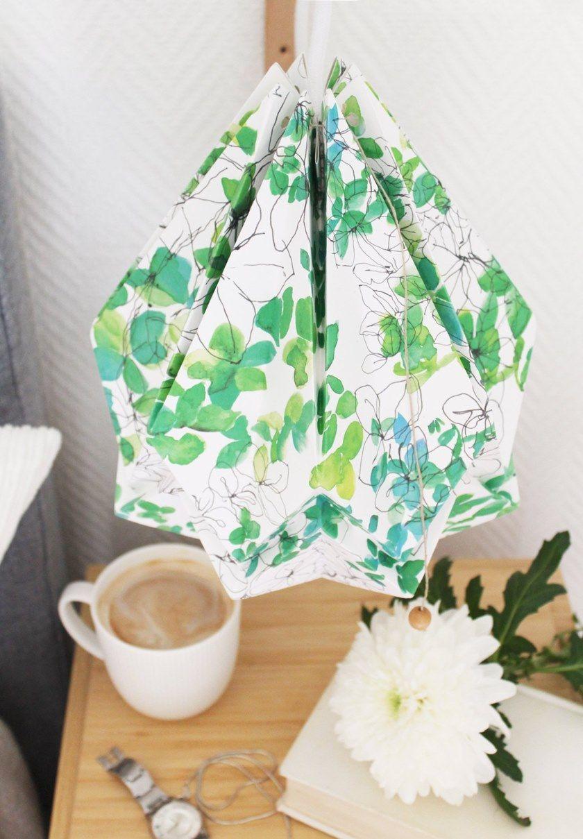 A Hanahi Pattern Carta Spring Tedzukuri Sospensione Atelier Lampada In Fatta Mano mnN8v0wO