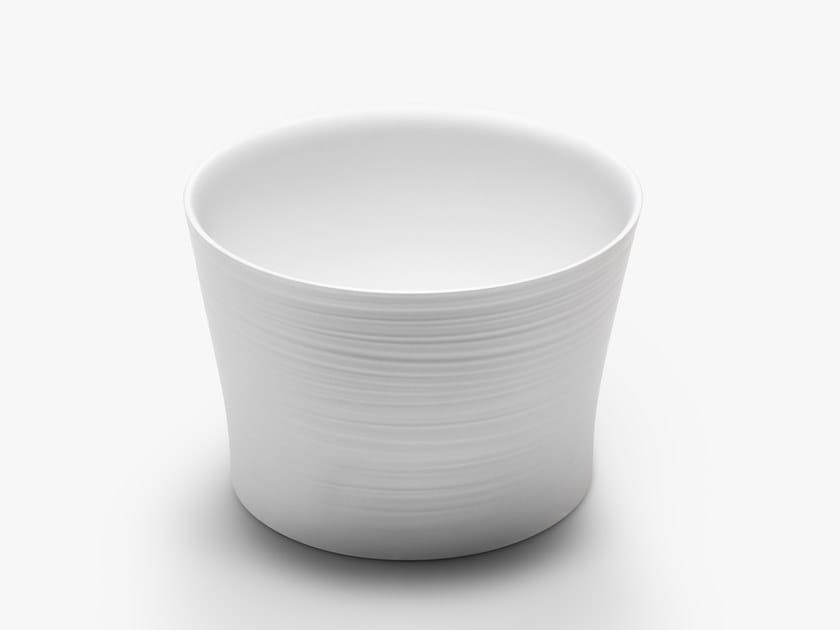 Countertop round Ceramilux® washbasin HANDMADE D5P by FALPER