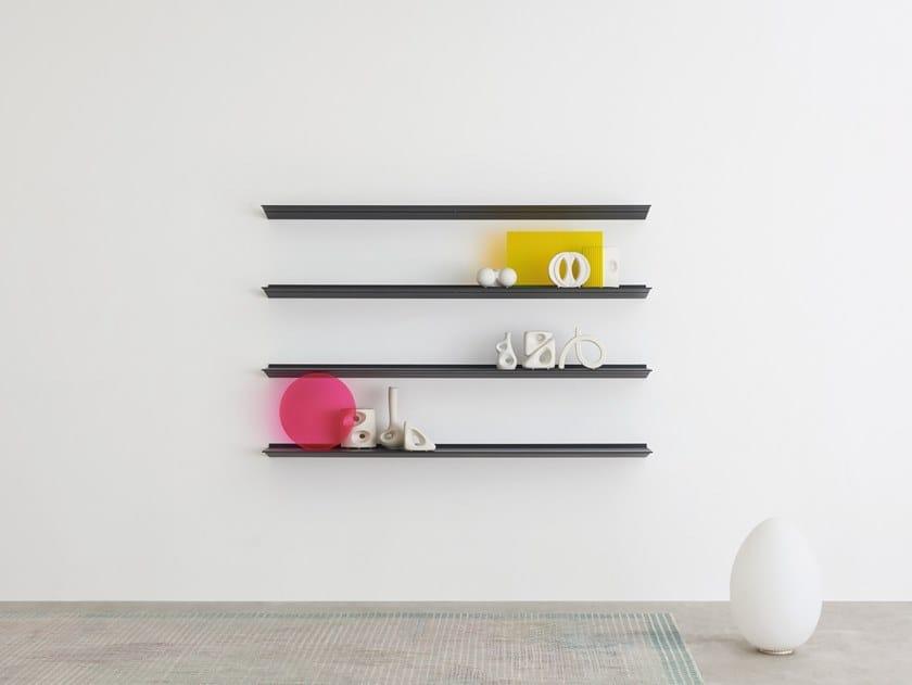 Extruded aluminium wall shelf HANG by Desalto