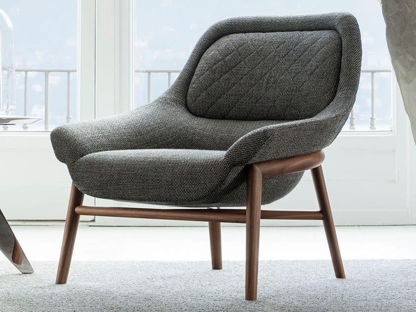 Fabric armchair HANNA by BertO