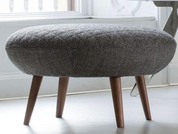 Fabric footstool HANNA | Footstool by BertO