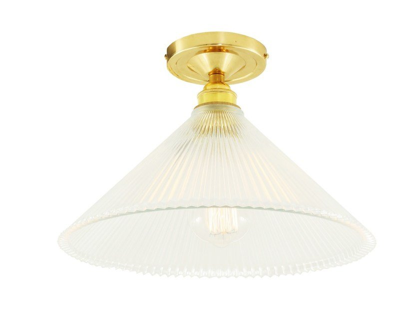 Direct light handmade ceiling lamp HANOI VINTAGE HOLOPHANE by Mullan Lighting