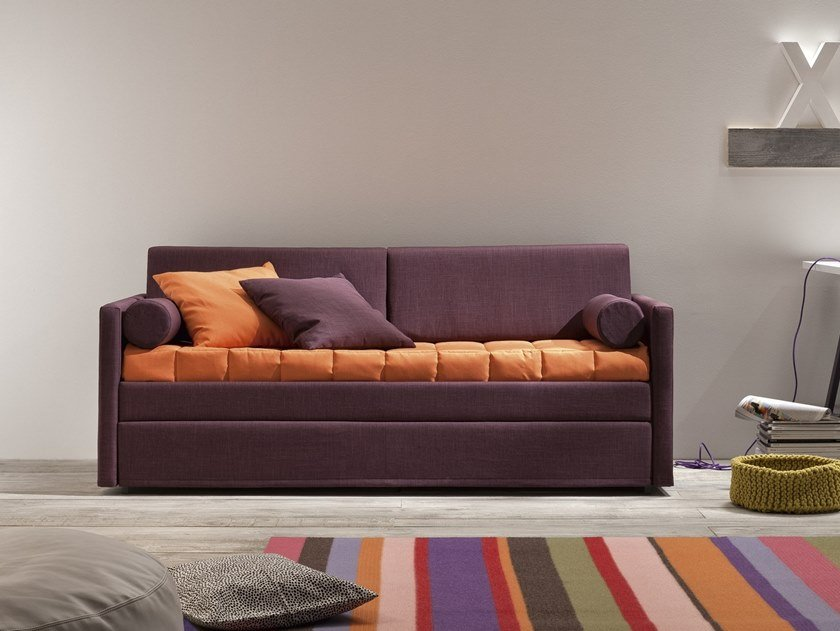 3 seater fabric sofa bed HANS by Felis