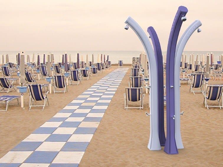 Solar polyethylene outdoor shower HAPPY BEACH F530 by ARKEMA DESIGN