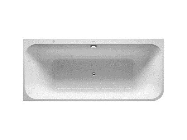 Corner whirlpool acrylic bathtub HAPPY D.2 | Contemporary style bathtub by Duravit