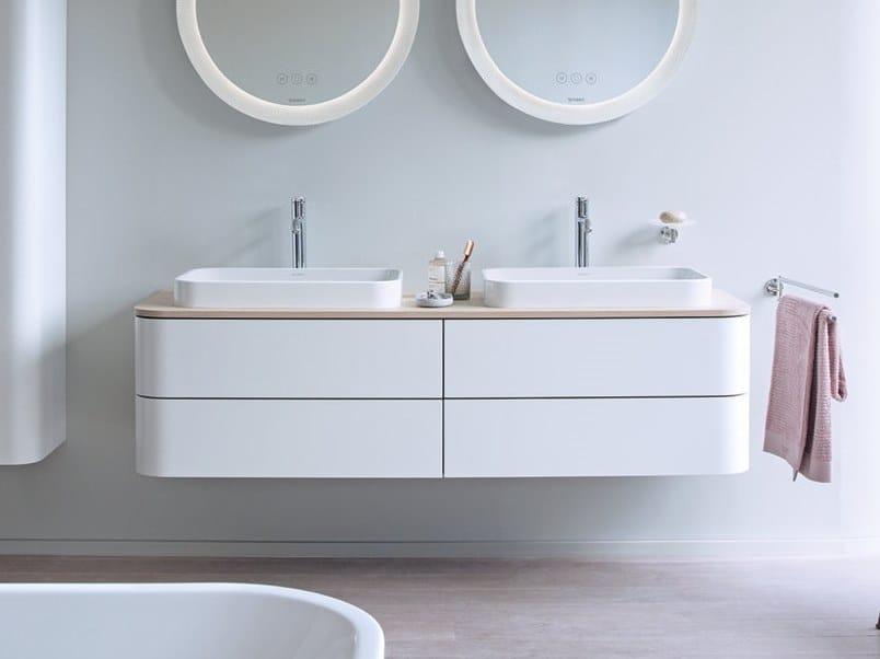 Mobile lavabo doppio sospeso con cassetti HAPPY D.2 PLUS   Mobile lavabo doppio by Duravit