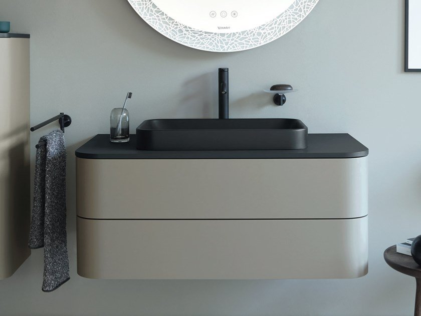Single wall-mounted vanity unit with drawers HAPPY D.2 PLUS | Single vanity unit by Duravit