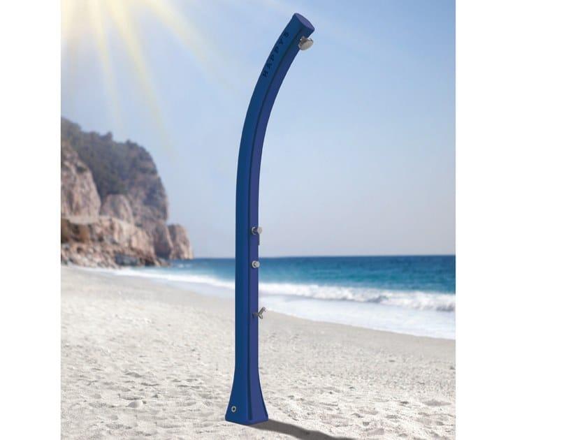 Solar polyethylene outdoor shower HAPPY H120 by ARKEMA DESIGN