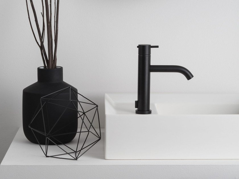 Countertop 1 hole washbasin mixer with diverter HAPTIC | Washbasin mixer with diverter by RITMONIO