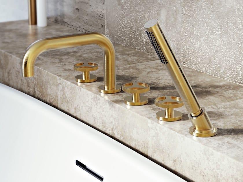 5 hole Recessed bathtub set with hand shower HARLEY | Bathtub set by GRAFF