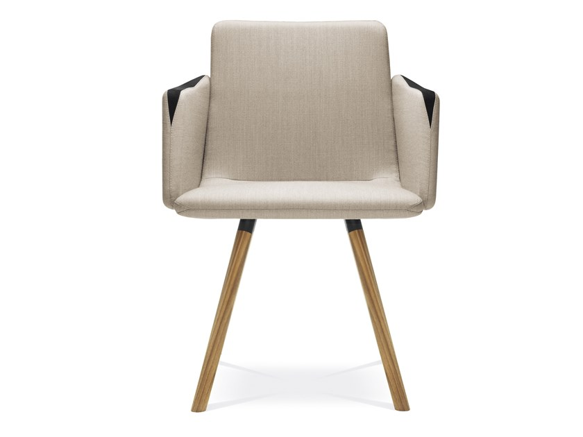 Fabric chair with armrests HARMONY | Chair with armrests by LD Seating