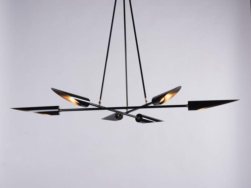 LED direct light steel pendant lamp HARMONY by Karice