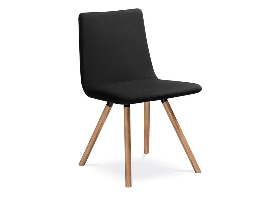 Upholstered leather chair HARMONY | Leather chair by LD Seating