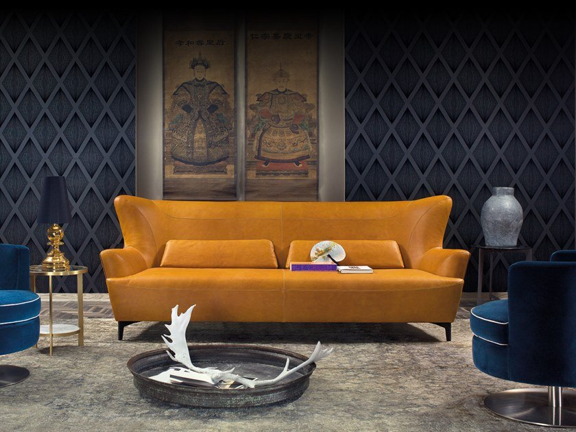 Sectional leather sofa HARMONY | Leather sofa by Borzalino