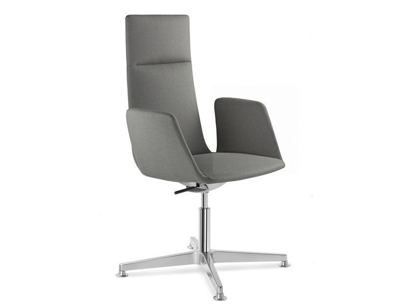 Sedia ufficio girevole in tessuto a 4 razze HARMONY MODERN 880-F34 by LD Seating