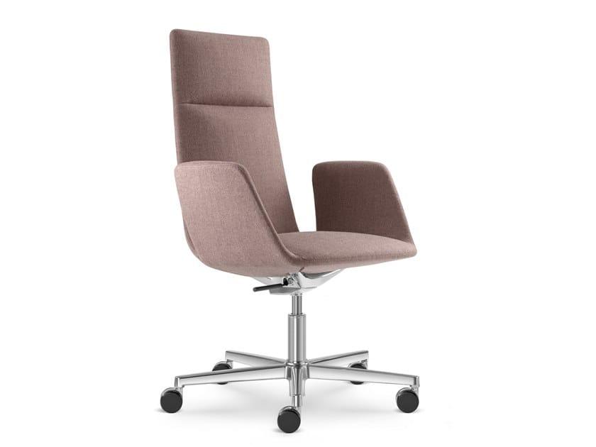 Sedia ufficio girevole in tessuto a 5 razze HARMONY MODERN 880-F37 by LD Seating