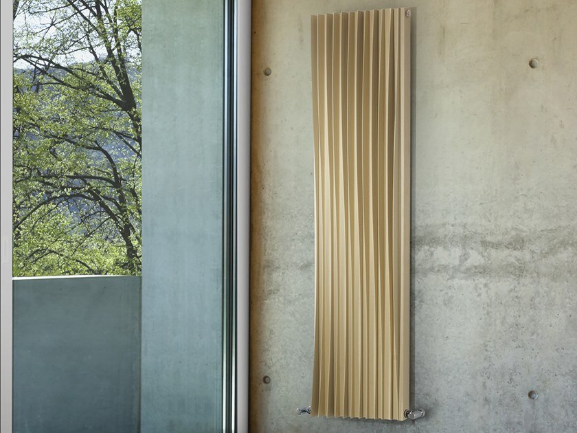 Wall-mounted decorative radiator HARP by DELTACALOR