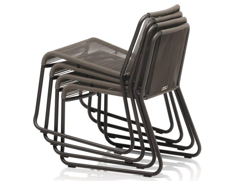 Stackable garden chair HARP | Stackable chair by RODA